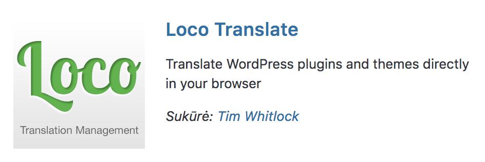 WP įskiepis vertimams