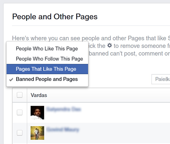 Peržiūrėkite, kokie kiti puslapiai jus mėgsta