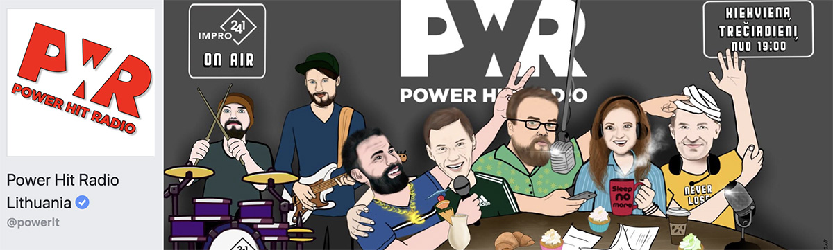 Power Hit Radio Facebook viršelis