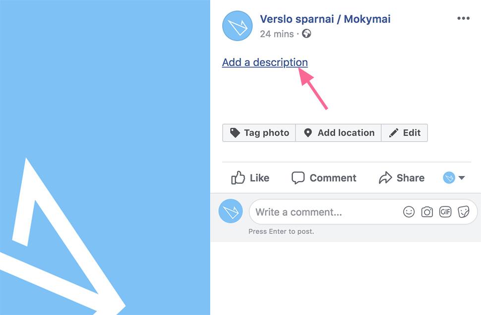Facebook profilio nuotraukos aprašymas