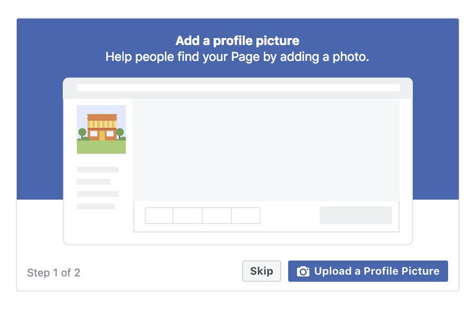 Facebook verslo puslapio profilio nuotrauka