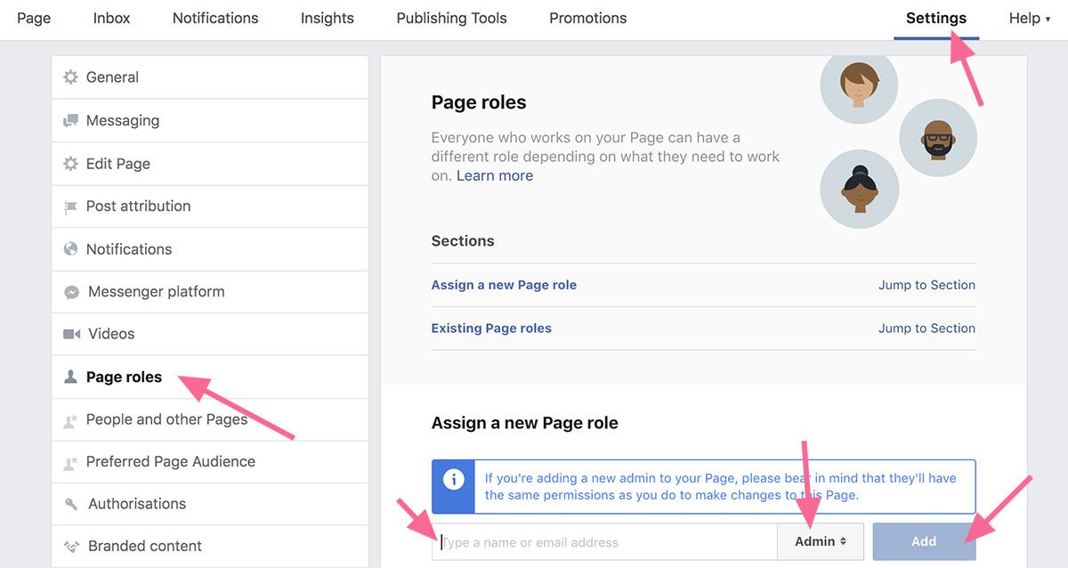 Facebook verslo puslapio administratoriaus teisės