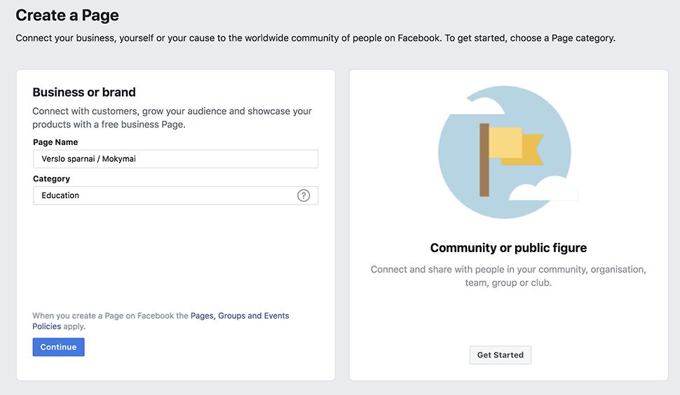 Facebook puslapio pavadinimas