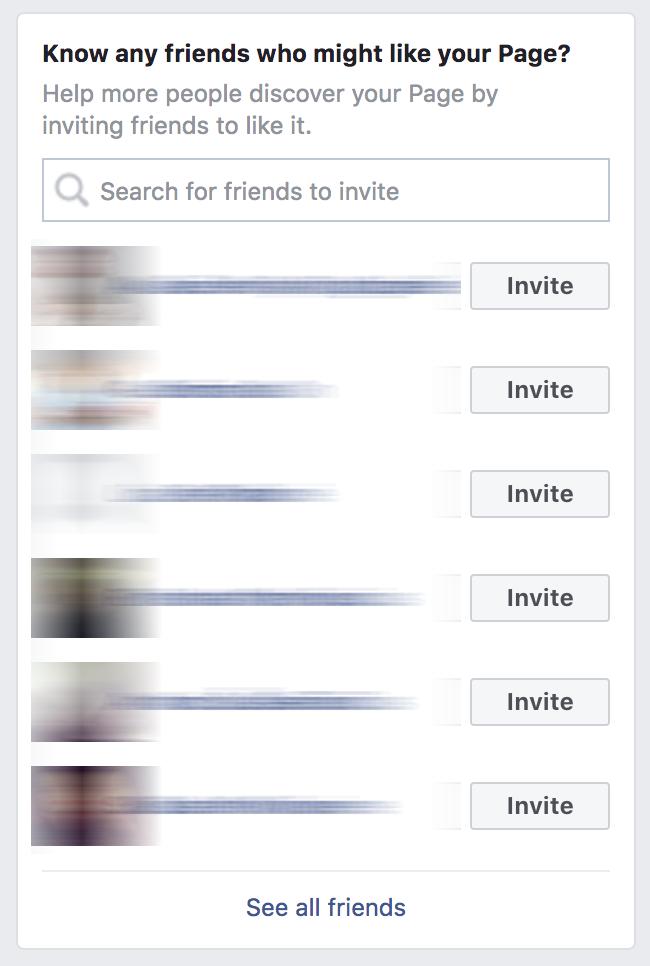 Pakviesti draugus pamėgti Facebook puslapį