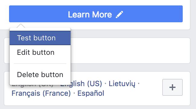 Testuoti CTA mygtuką Facebook verslo puslapyje