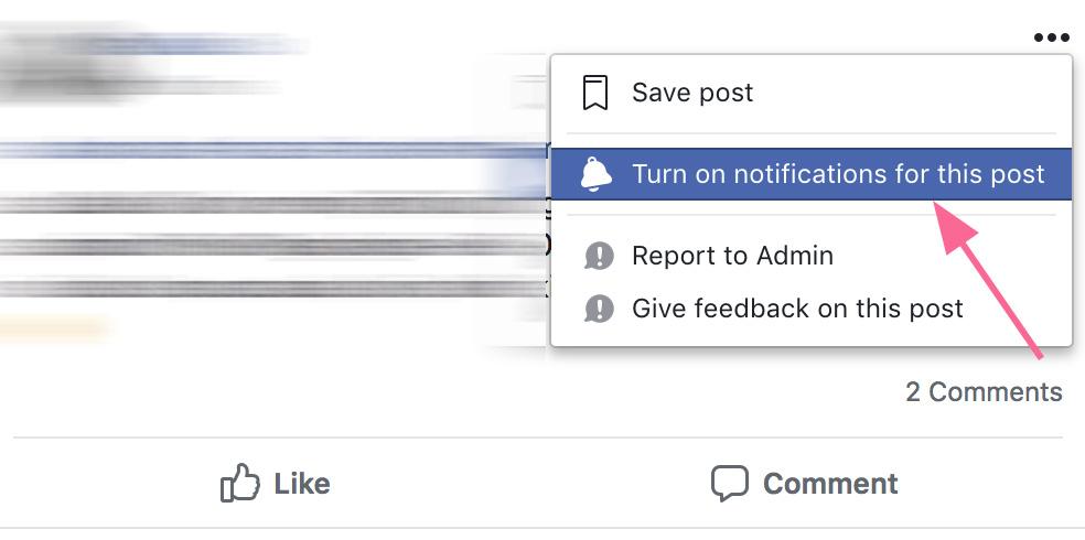 Facebook įrašo sekimas