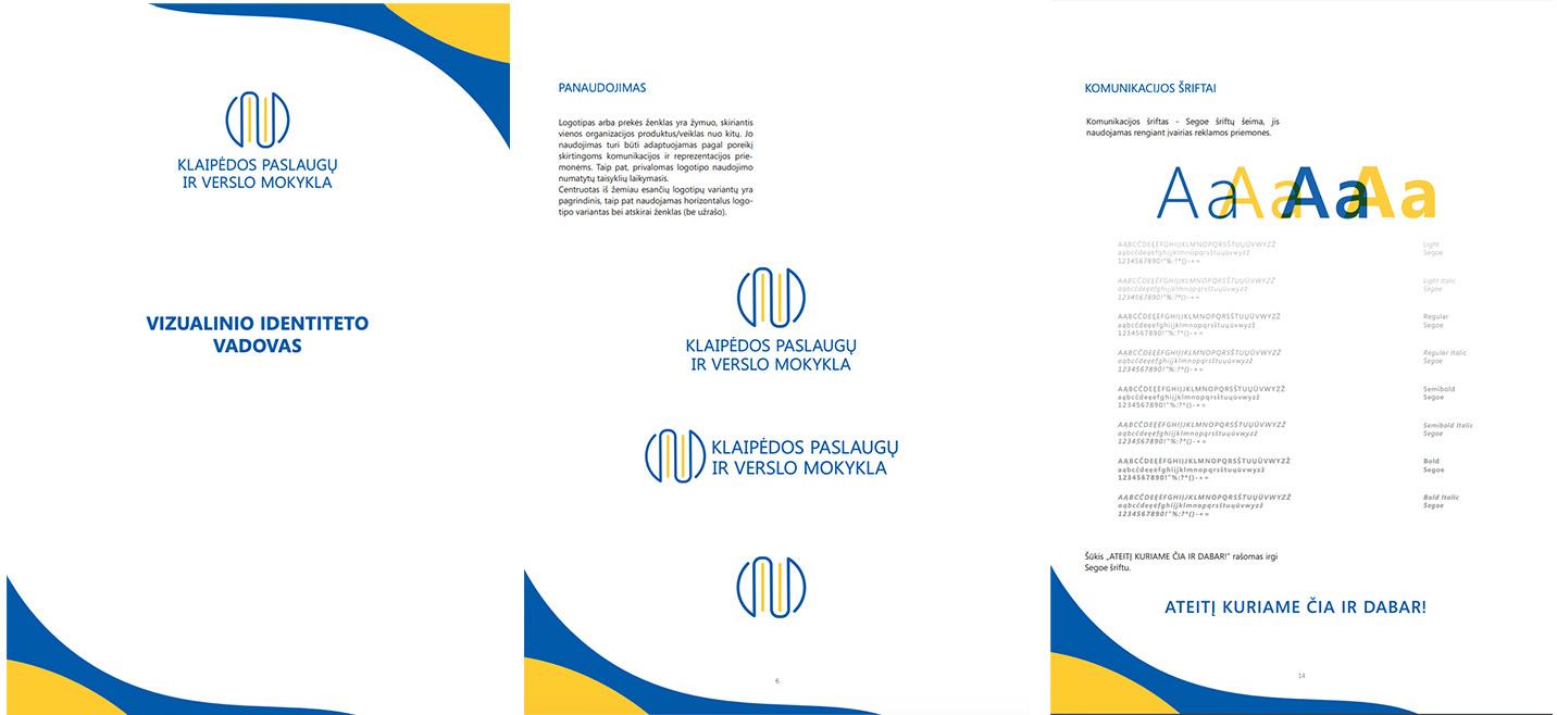 Klaipėdos paslaugų ir verslo mokyklos vizualinio identiteto vadovas