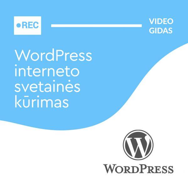 WordPress interneto svetainės kūrimas gidas