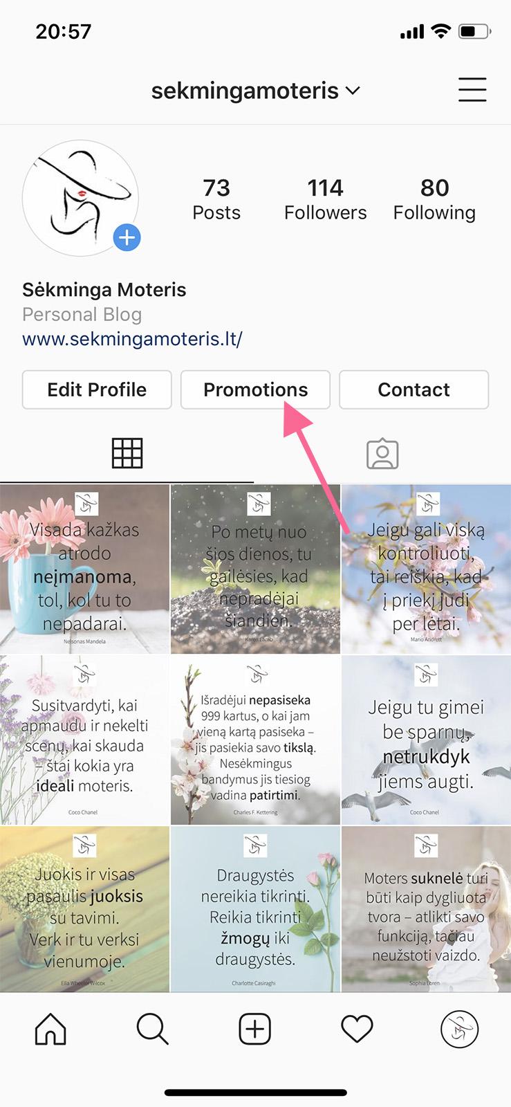 Instagram reklamos kūrimas